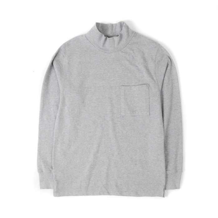 [아웃스탠딩] MOCK NECK POCKET TEE [GRAY]