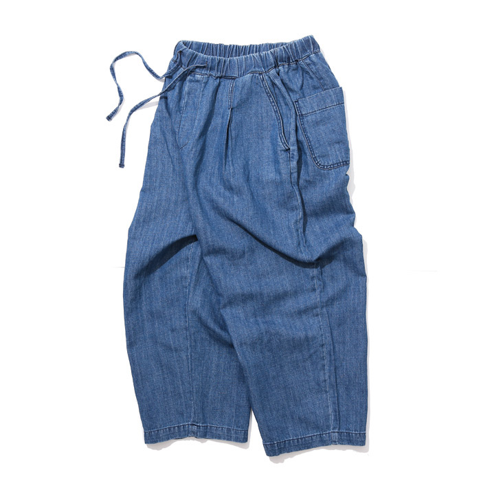 공백 Wide One Tuck Linen Denim_M/Blue (GDP18003)