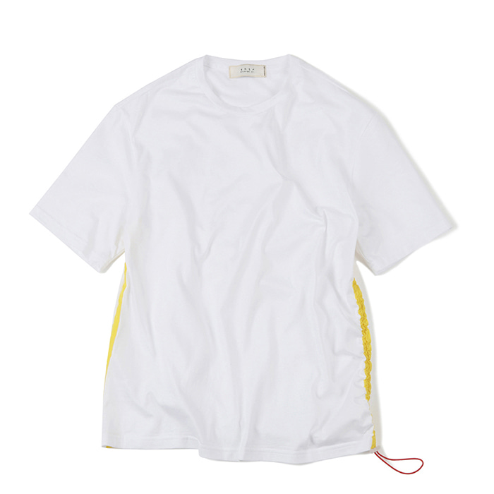 셔터 SIDE LINE STRING T-SHIRT_WHITE