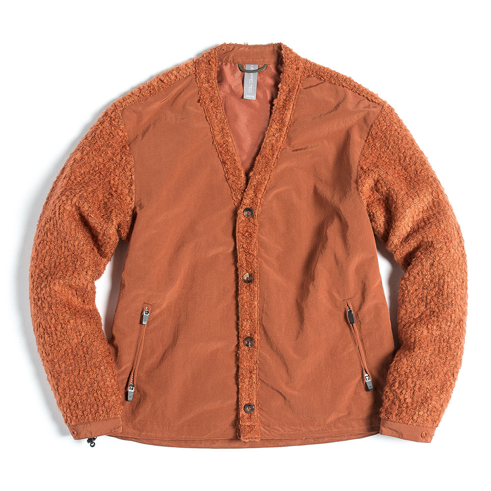언어팩티드 V-NECK CARDIGAN_Orange
