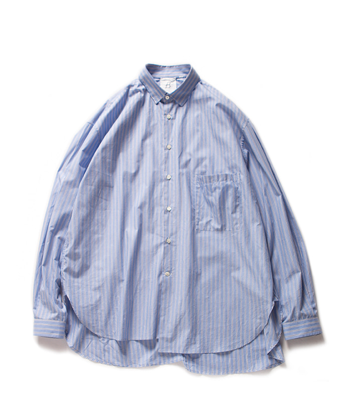 브라운야드 Unbalance Shirts_Blue stripe