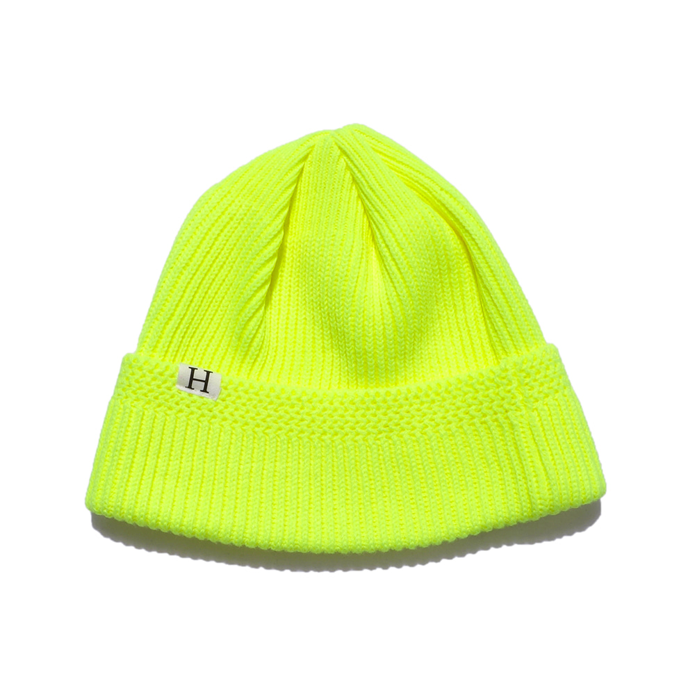 해버대셔리 H LOGO WATCH CAP_S.YELLOW