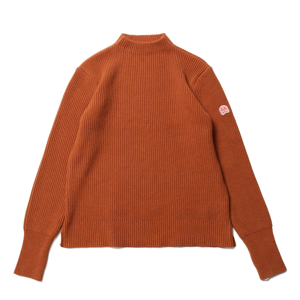 홀리선 Northyork Mock Neck Solid Slit Knit_Orange