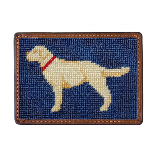 SMATHERS&BRANSON_Yellow Lab Needlepoint Card Wallet