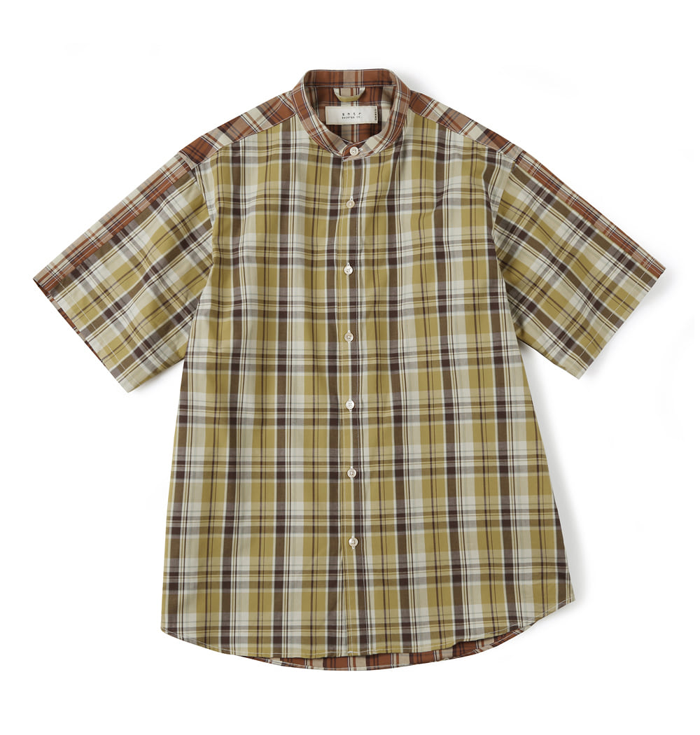 셔터 CHECK MIX SHIRT_Yellow