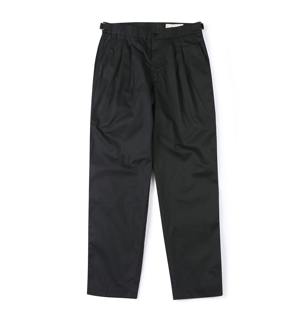 셔터 HARD WASHER COTTON PANTS_Black