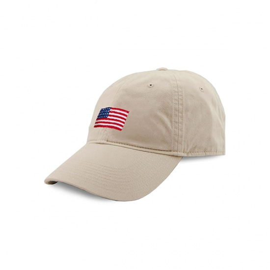 SMATHERS&BRANSON_American Flag Needlepoint Hat (Stone)