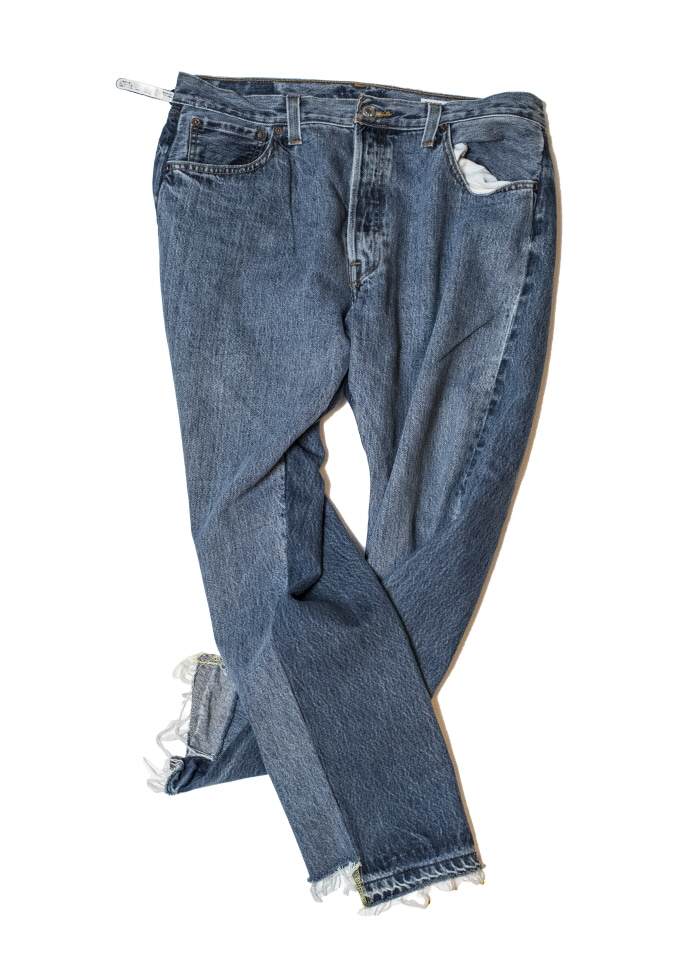 써니사이드업 REMAKE 2FOR1 FRONT LOW DENIM PANTS-SIZE4 TYPE B