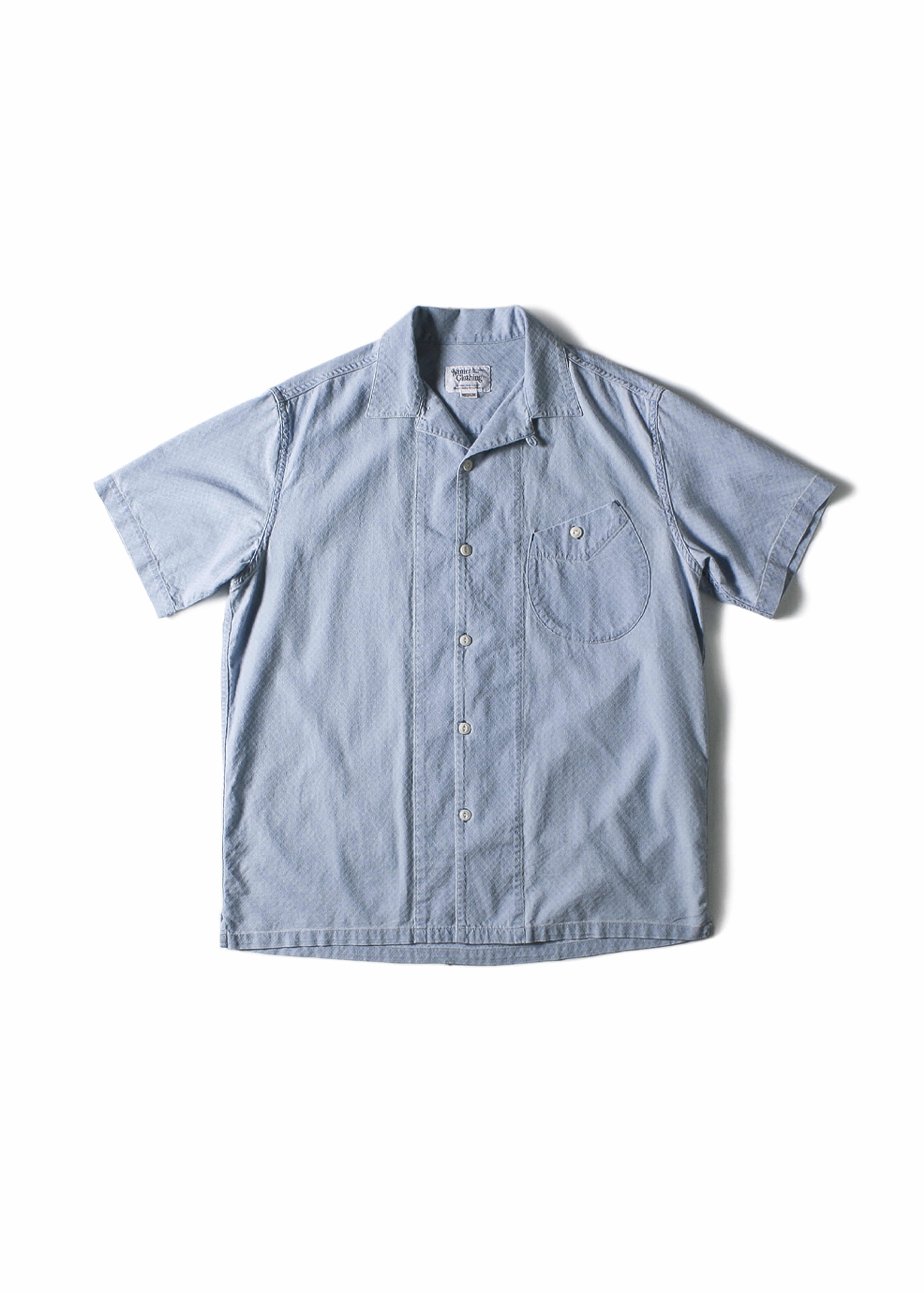 네이머클로딩 BLUER OPEN COLLAR SHIRTS_Sky Blue