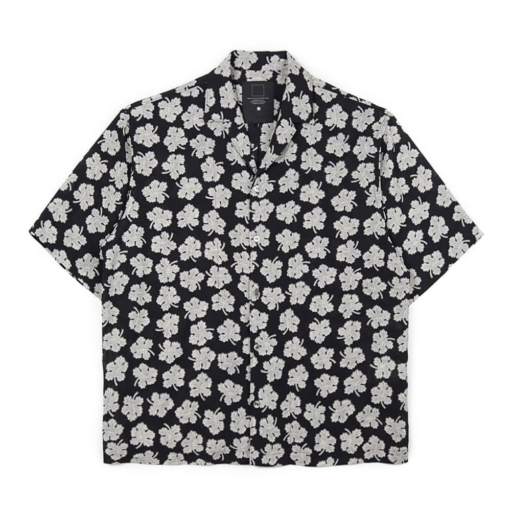 오파츠 Maple Open-collar Shirts_Black