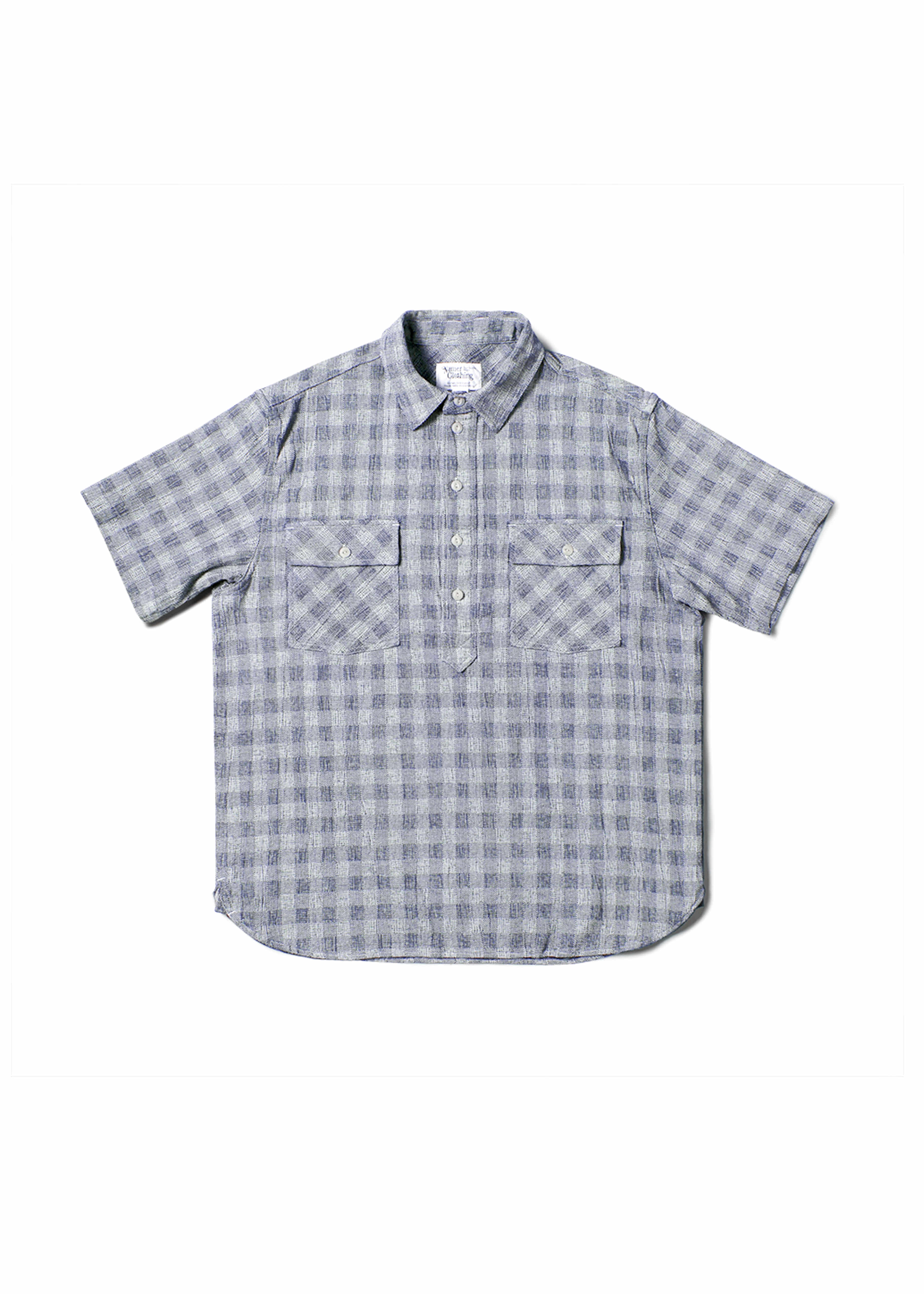 네이머클로딩 BLUER CHECK PULLOVER 1/2 SHIRTS_Navy