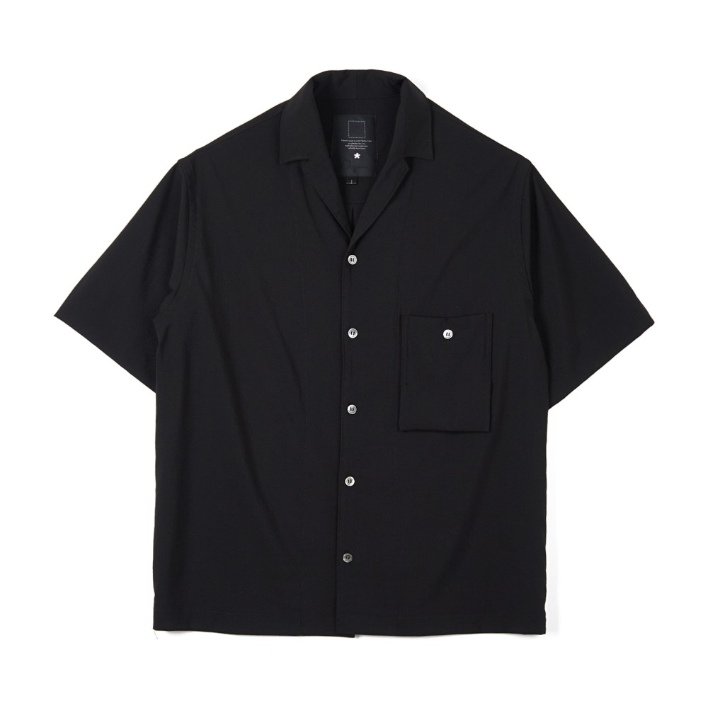 오파츠 Simple open-collar Pocket shirts_Black