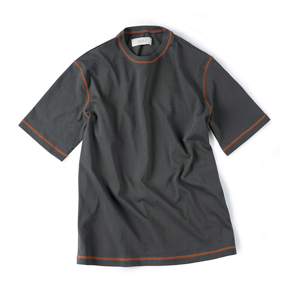 셔터 COVER STITCH T-SHIRT_Dark Grey