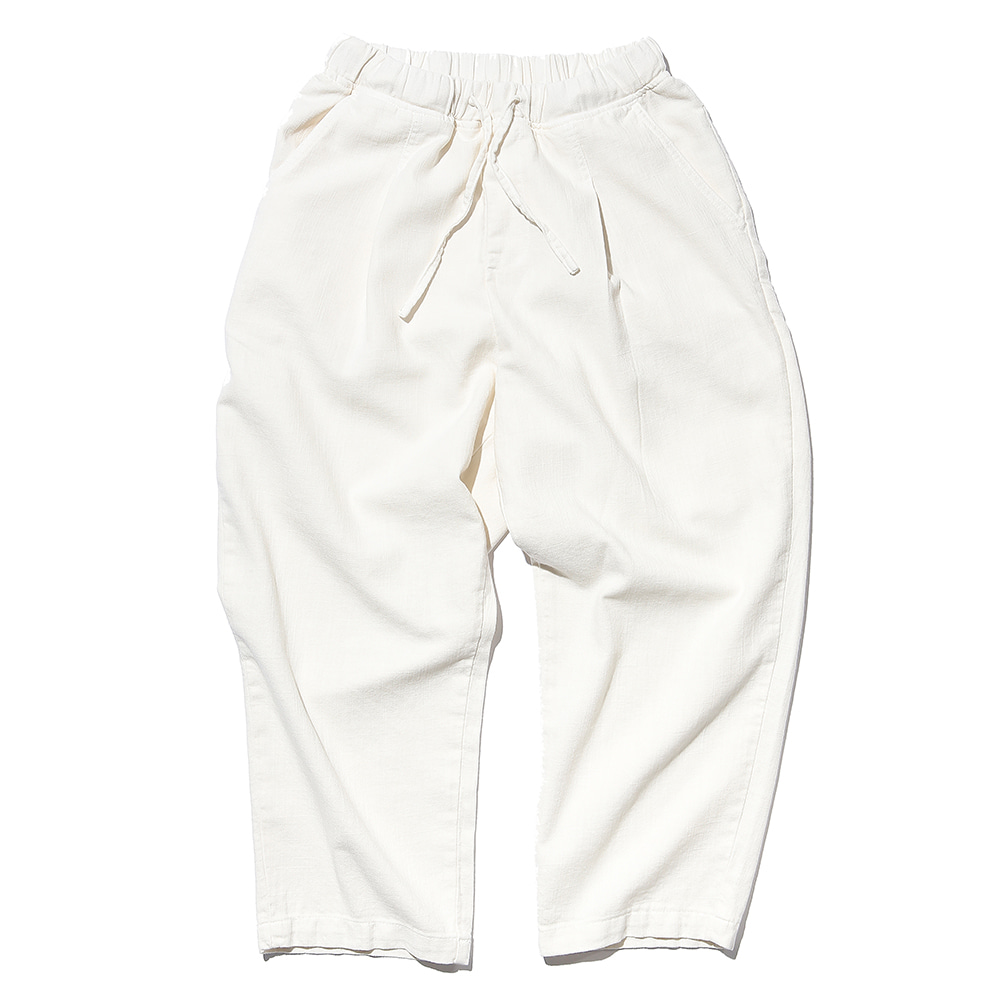 공백 Wide One Tuck Linen Like Pants(Garment Dyeing)_Ecru