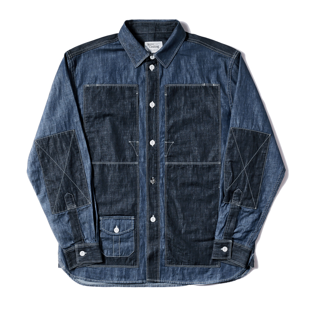 네이머클로딩 BLUER UTILITY SHIRTS_Blue