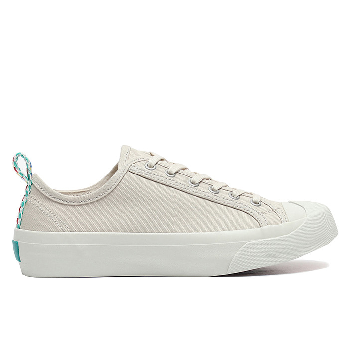 YMC Tape Heel Wing Tip Trainer_Cream