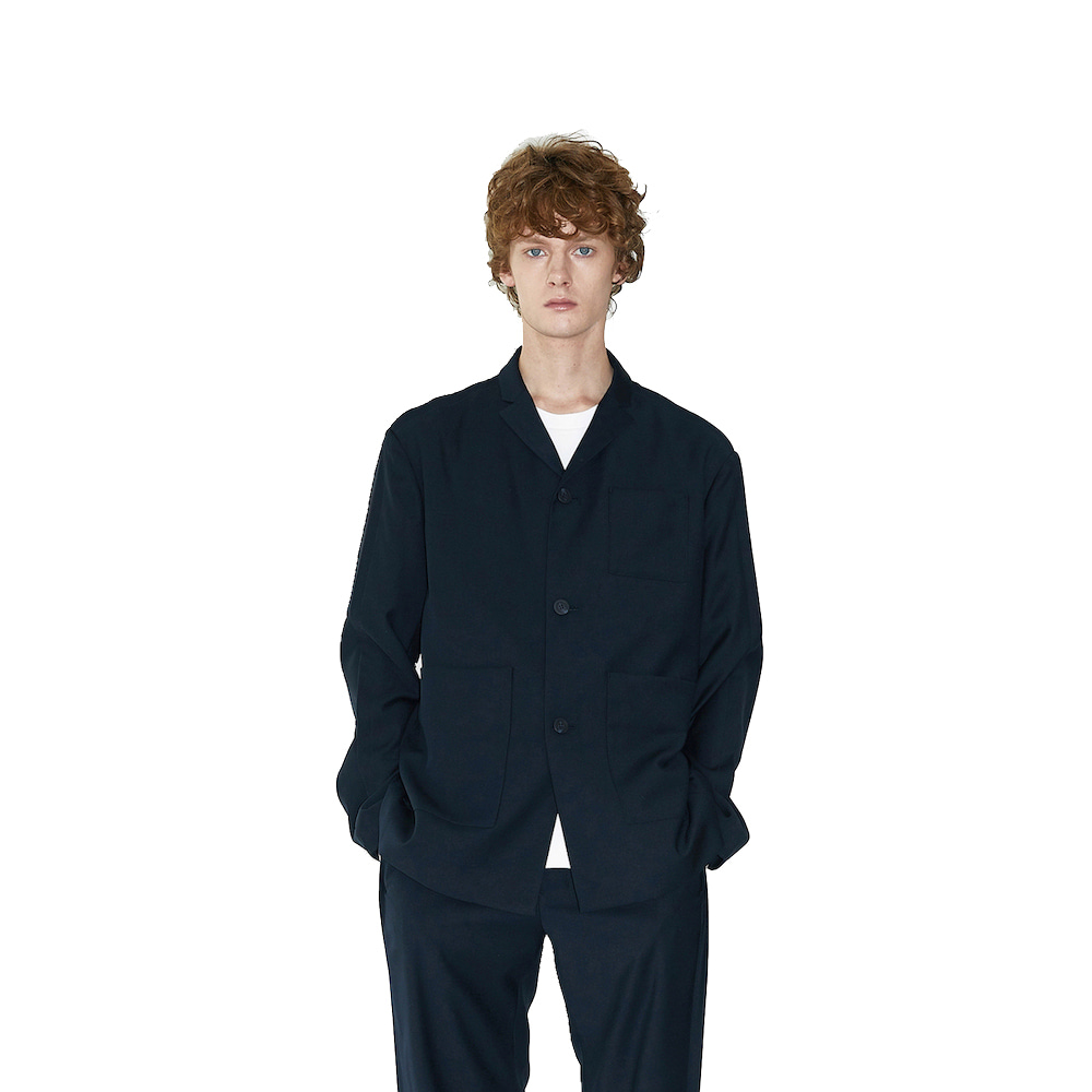 에이카화이트 OVERTURE TAILORED JACKET_Deep navy