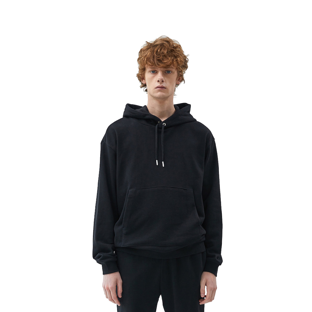 에이카화이트 FINEST COTTON HOODIE_Black