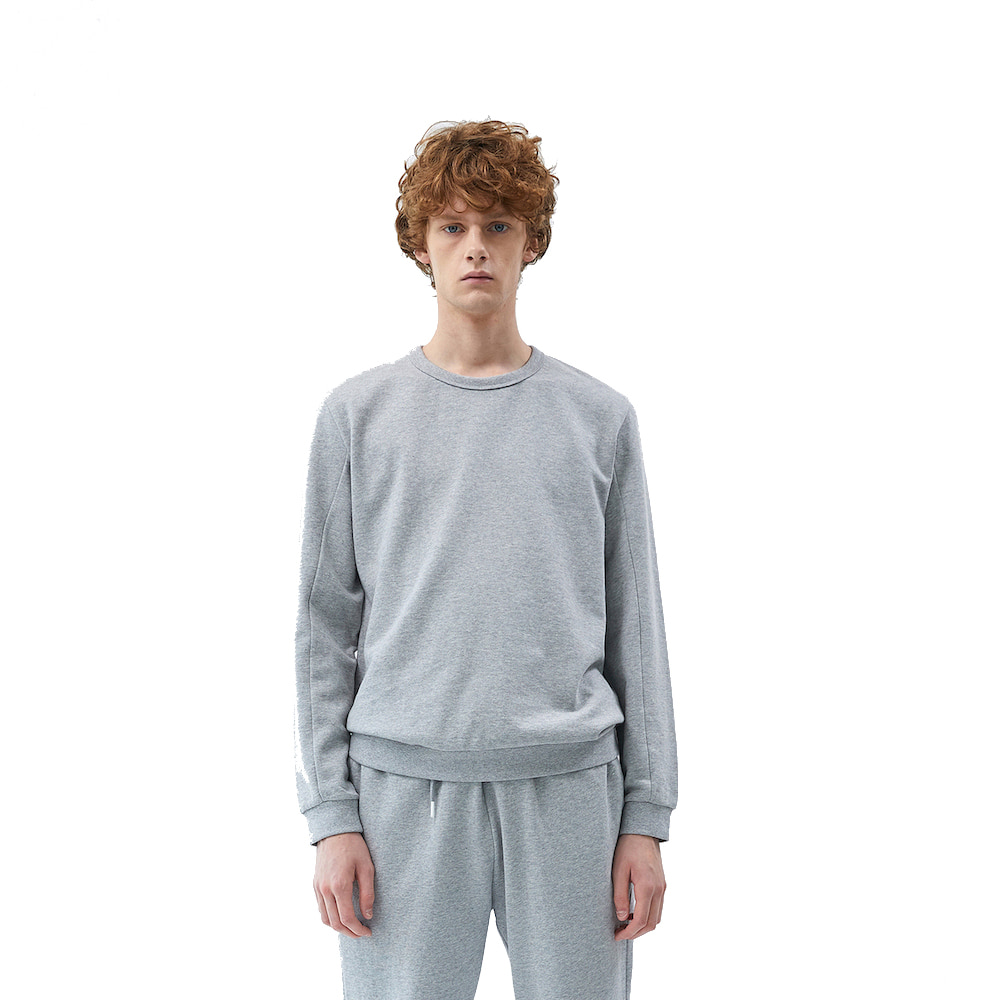 에이카화이트 FINEST COTTON SWEATSHIRT (Grey)