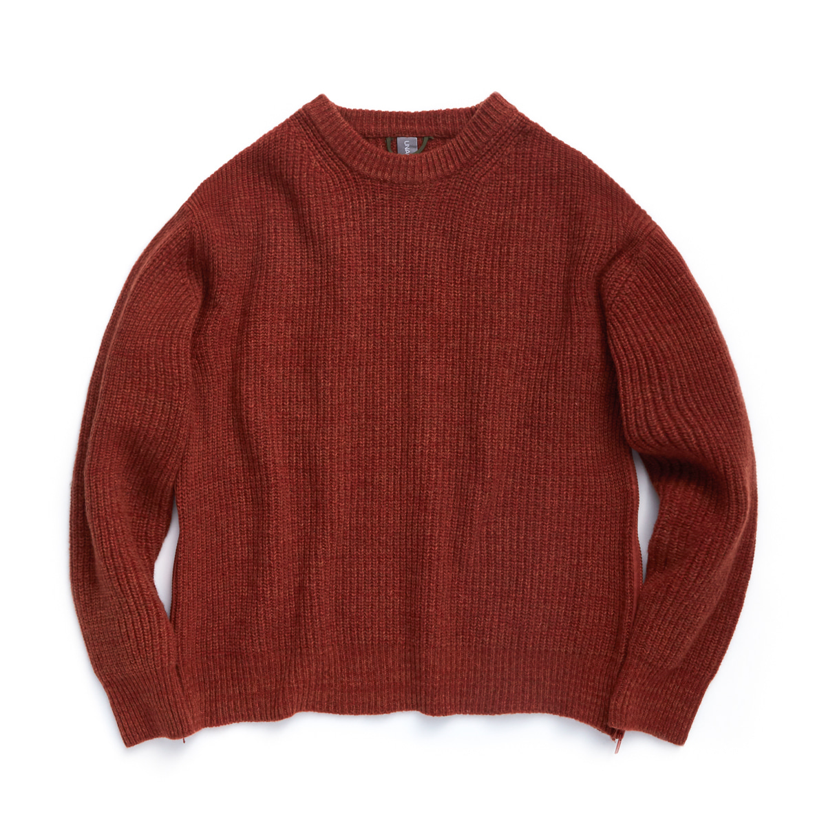 언어펙티드 OVERSIZED CREWNECK KNIT (Burnt Orange Melange)