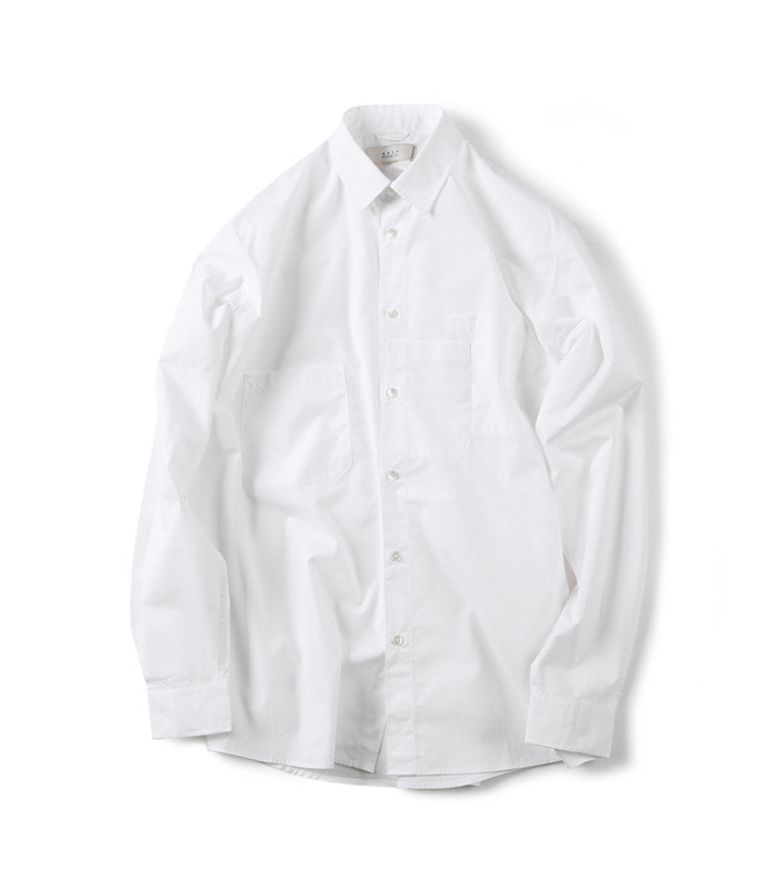 셔터 STRATA POCKET SHIRT_White