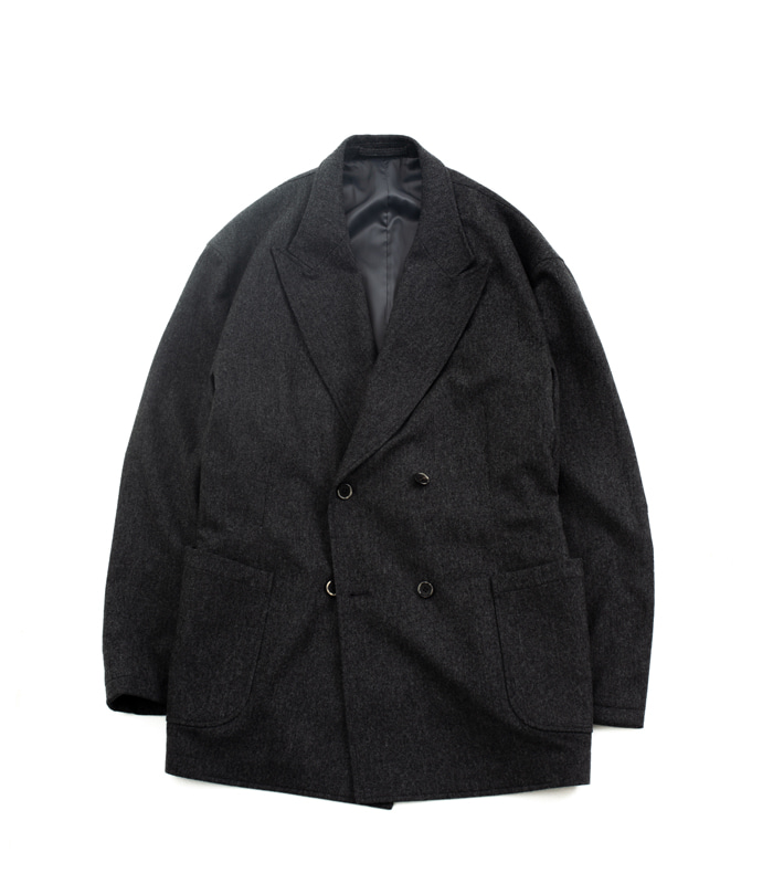 브라운야드 Utility Double Breasted Jacket (Grey)