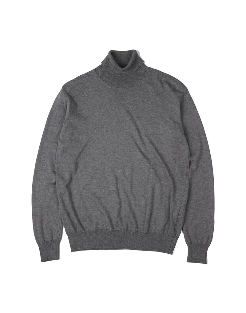 오파츠 Soft roll neck Sweater (Grey)