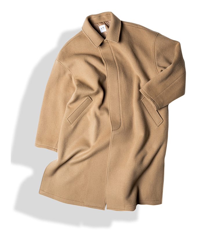 아티튜드 3-VENT BAL COLLAR WOOL COAT (Beige)