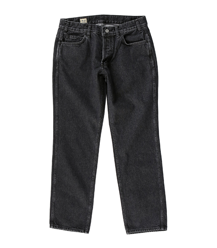 공백 Regular Standard Denim (Black Washed)