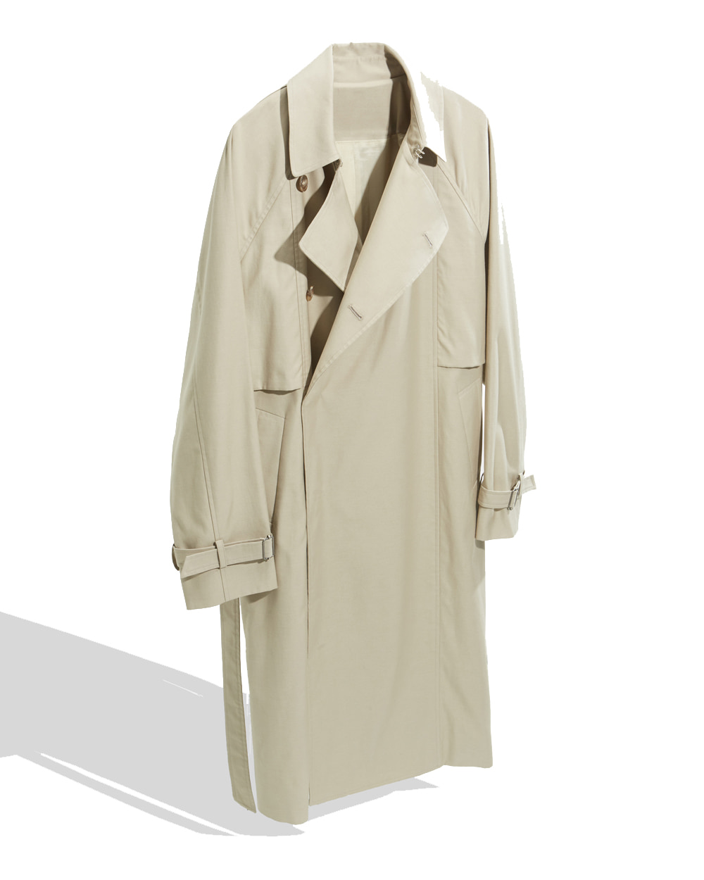 유스 Belted Trench Coat (Light Beige)