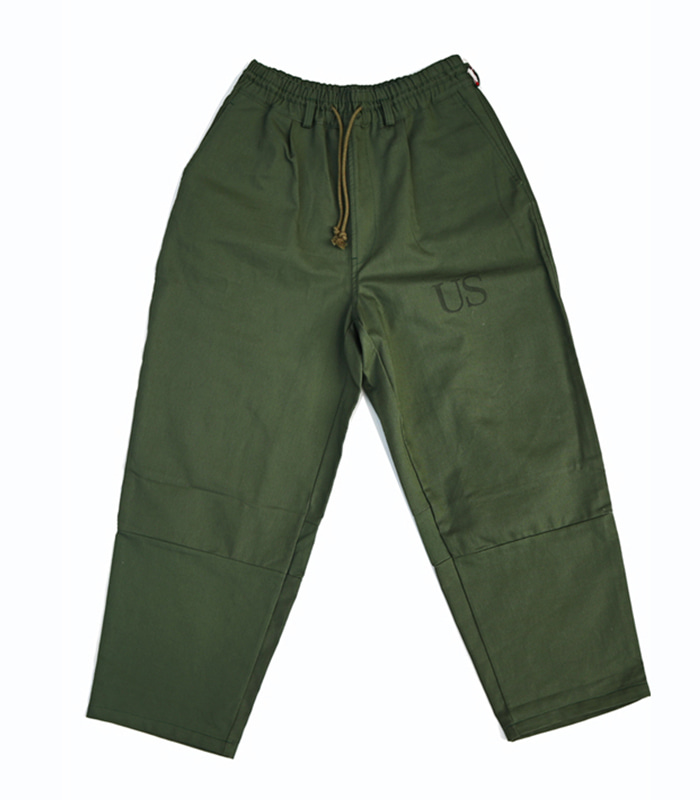 YOUSED Laundry military wide pants (Olive)