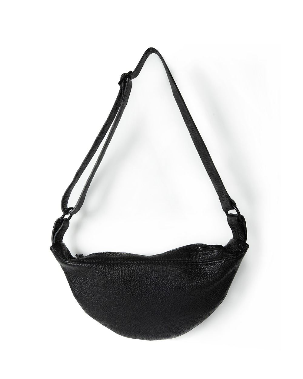브라운야드 Leather Sling Bag (Black)