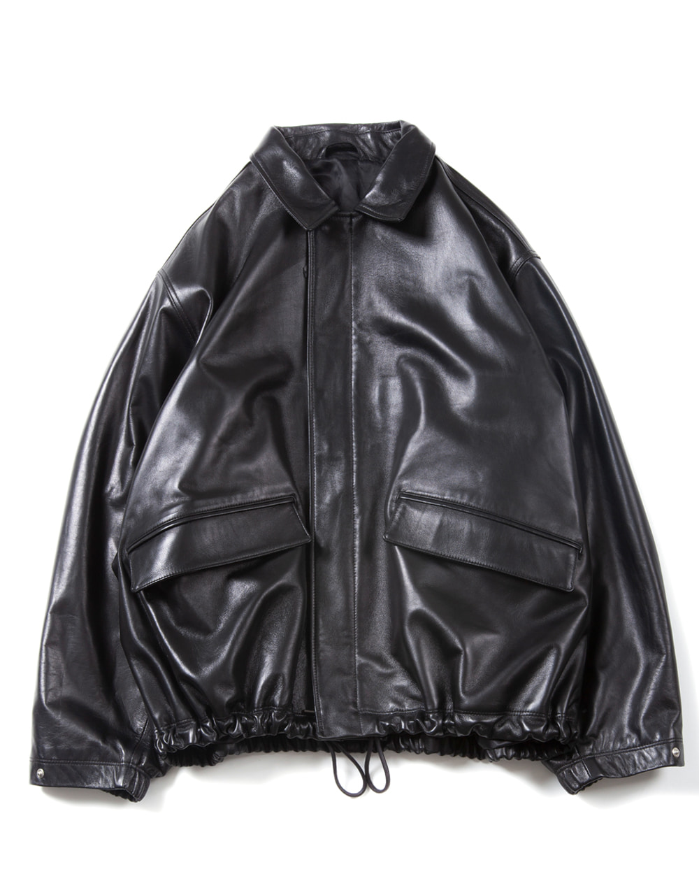 브라운야드  Leather Field Jacket (Black)