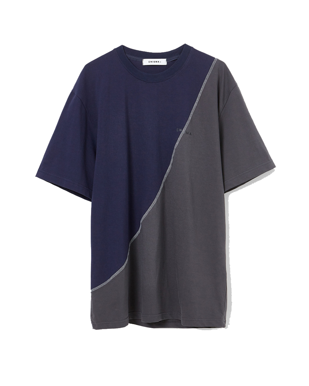 이니그마 Rework T-Shirt (Navy/Charcoal)