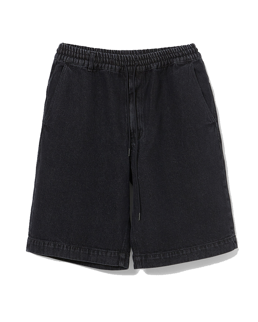 이니그마 Wide Denim Shorts (Washed Black)