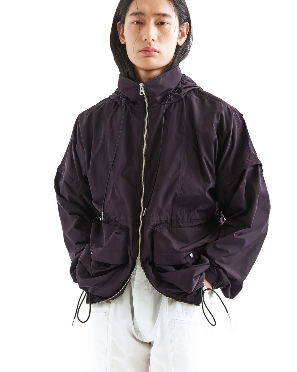 ATE STUDIOS VOLUME HOODED COVER JACKET (Purple)