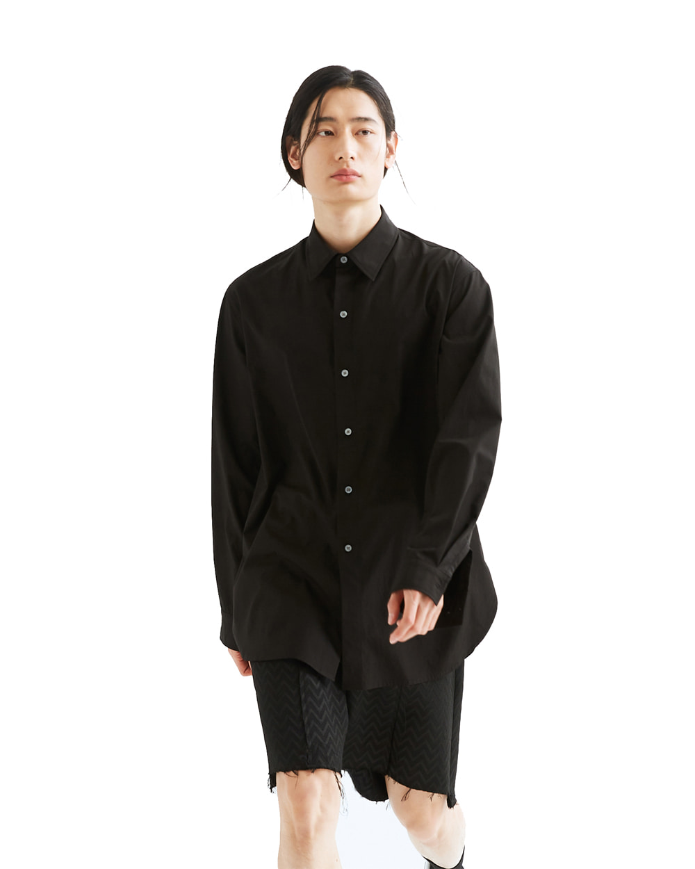 ATE STUDIO MULTI OPEN SHIRTS VER.YOKE (Black)