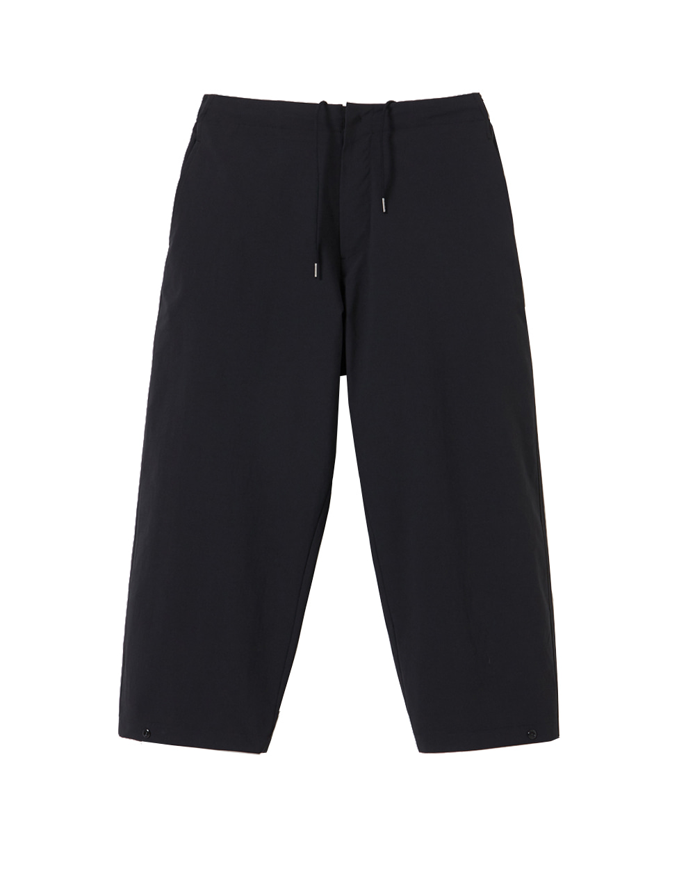 유스 Cropped Wide Pants (Black)