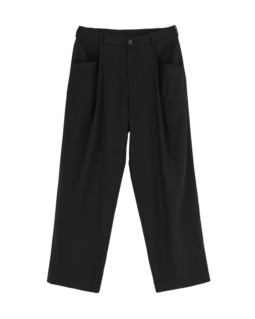 유스 Structured Wide Pants (Black)