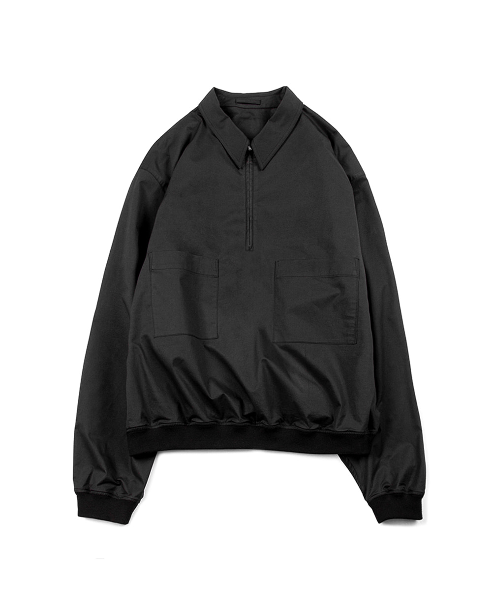 브라운야드 LIGHT HALF ZIP UP (Black)