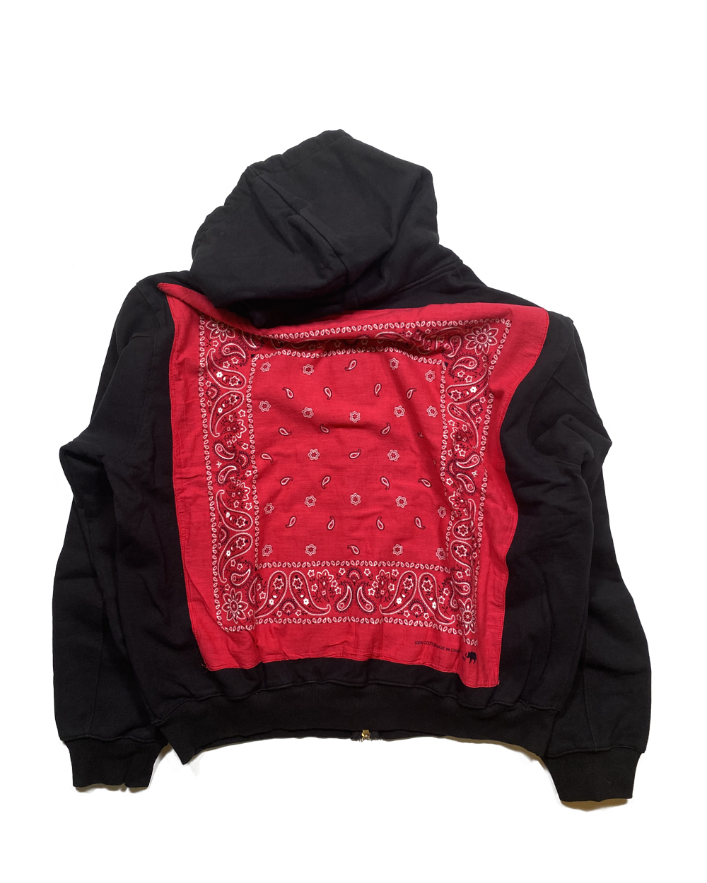 벌스데이수트 Vintage Bandana Zip-up (Black)_TYPE 12