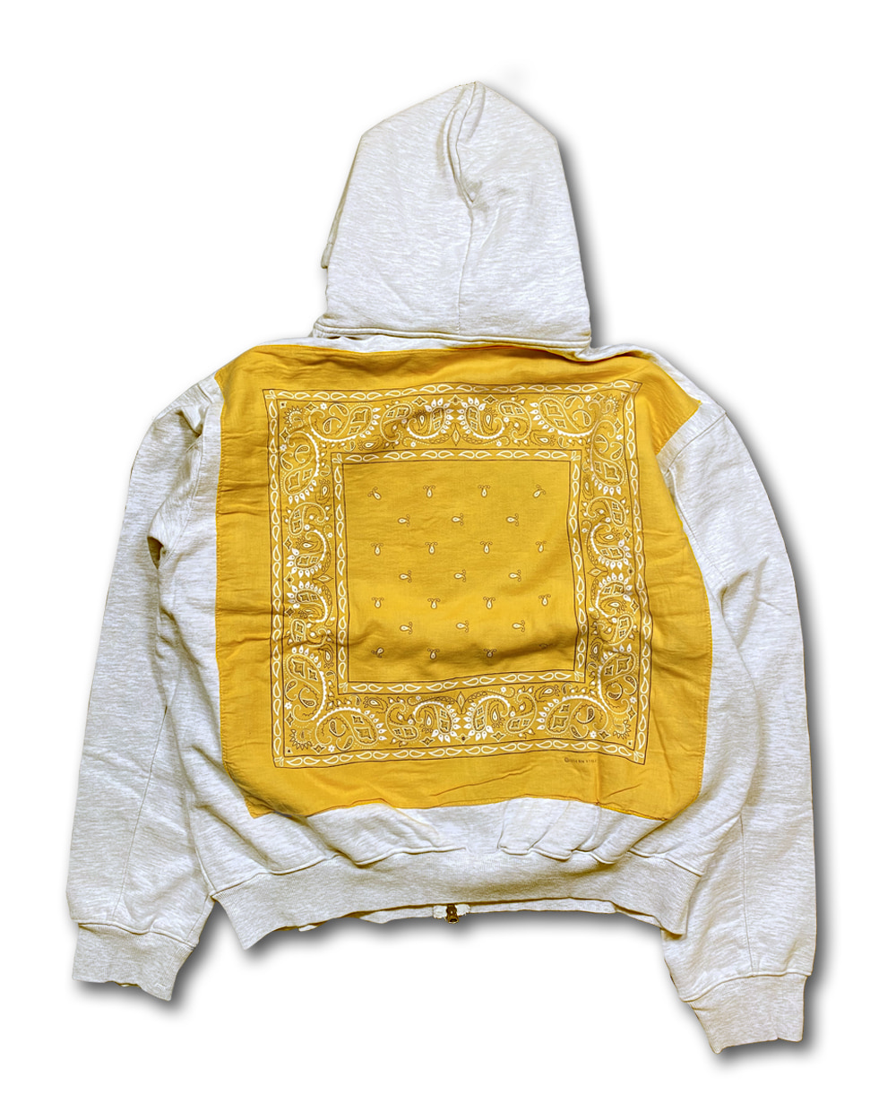 벌스데이수트 Vintage Bandana Zip-up (Melange Grey)_TYPE 21