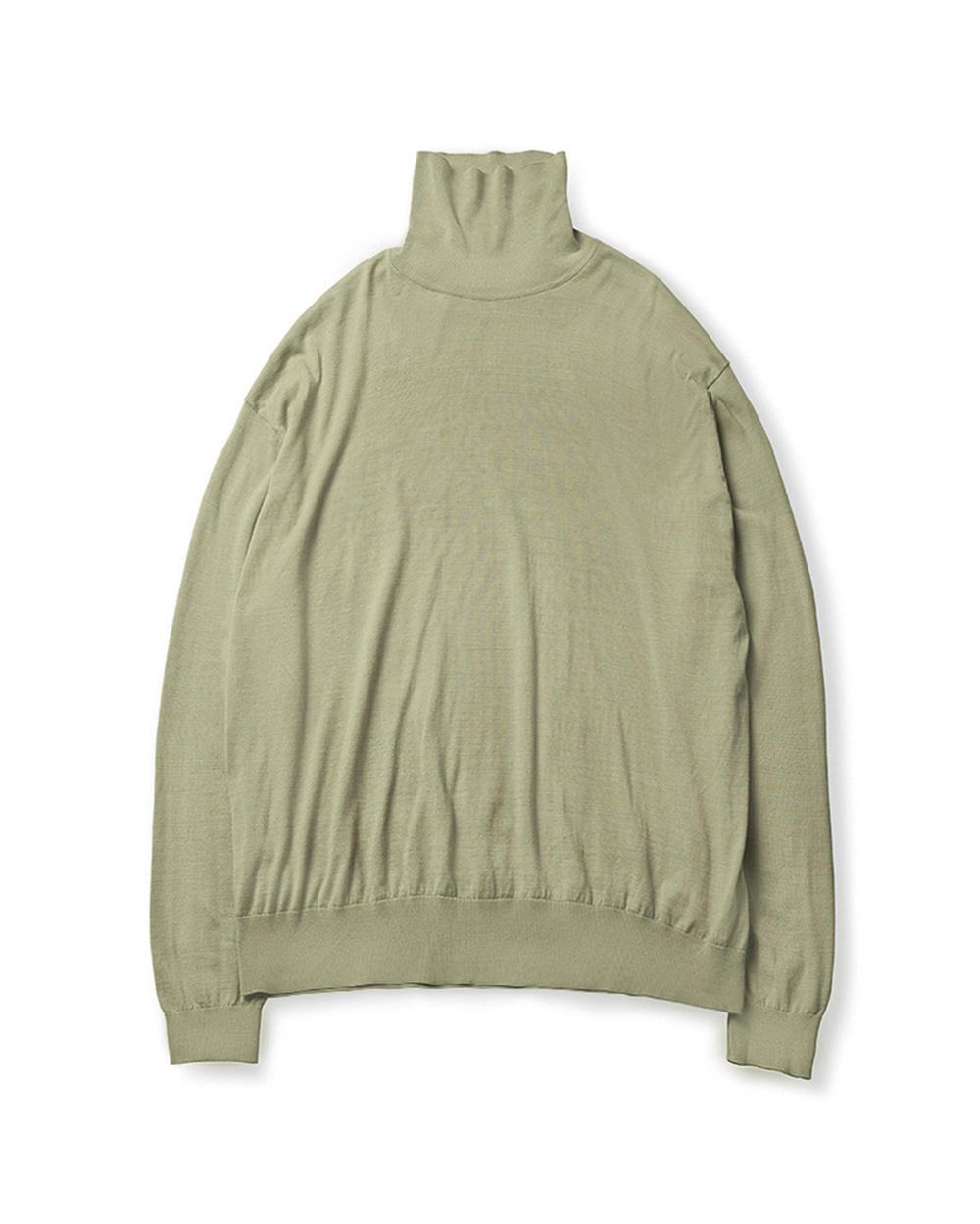 브라운야드 HIGH GAUGE TURTLENECK (Light olive)