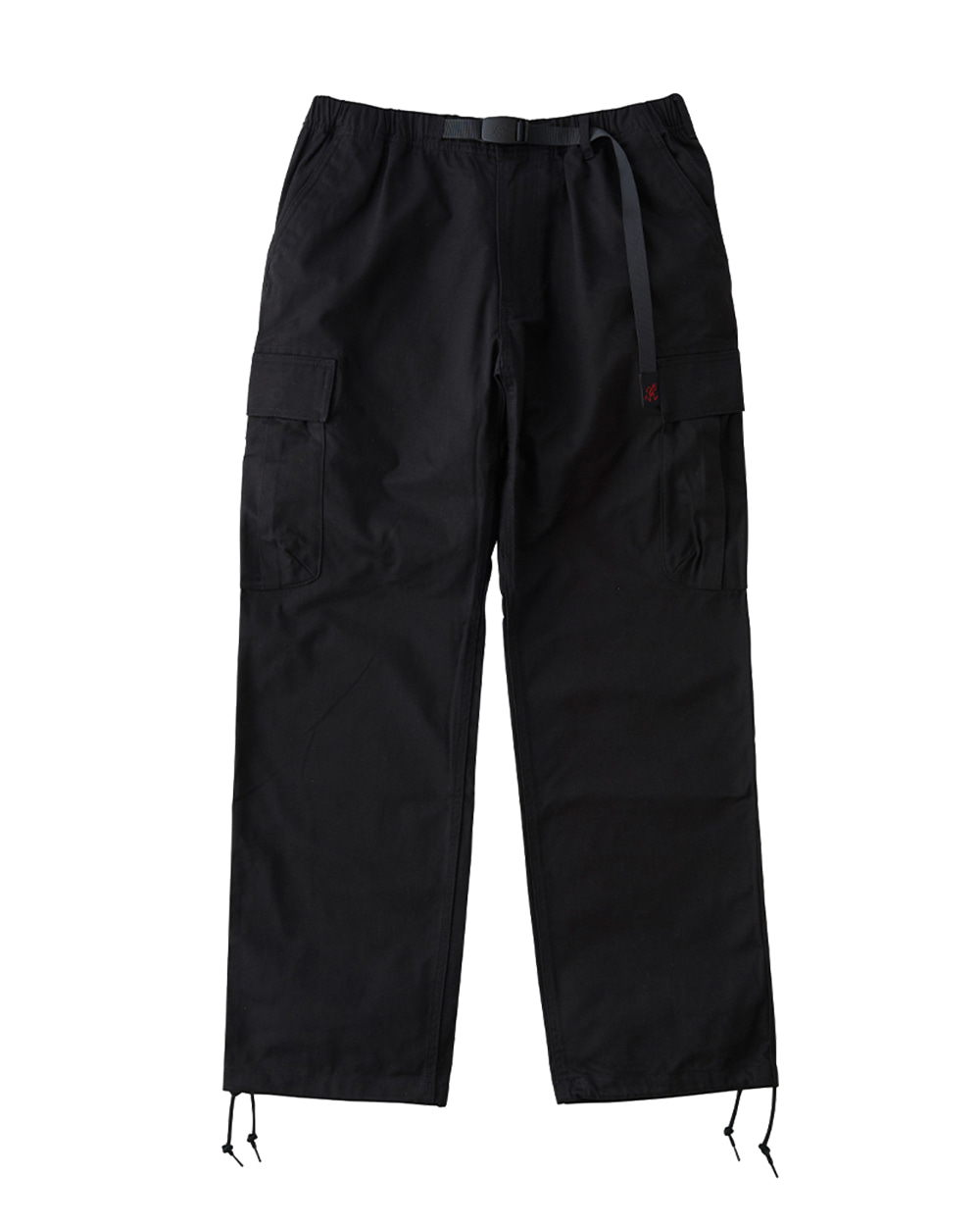 그라미치 BACK SATIN CARGO PANTS (Black)