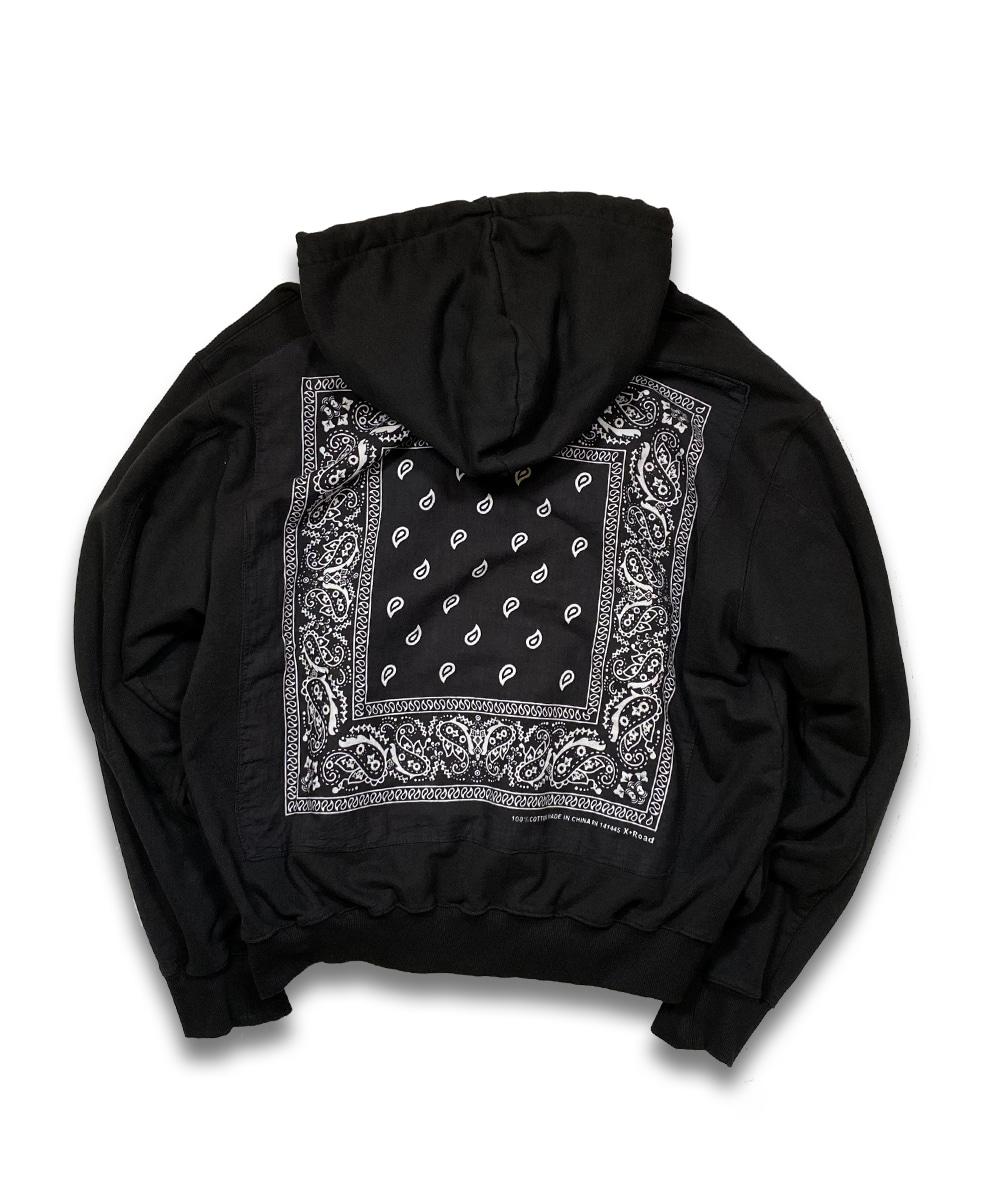 벌스데이수트 Vintage Bandana Zip-up (Black)_TYPE 25