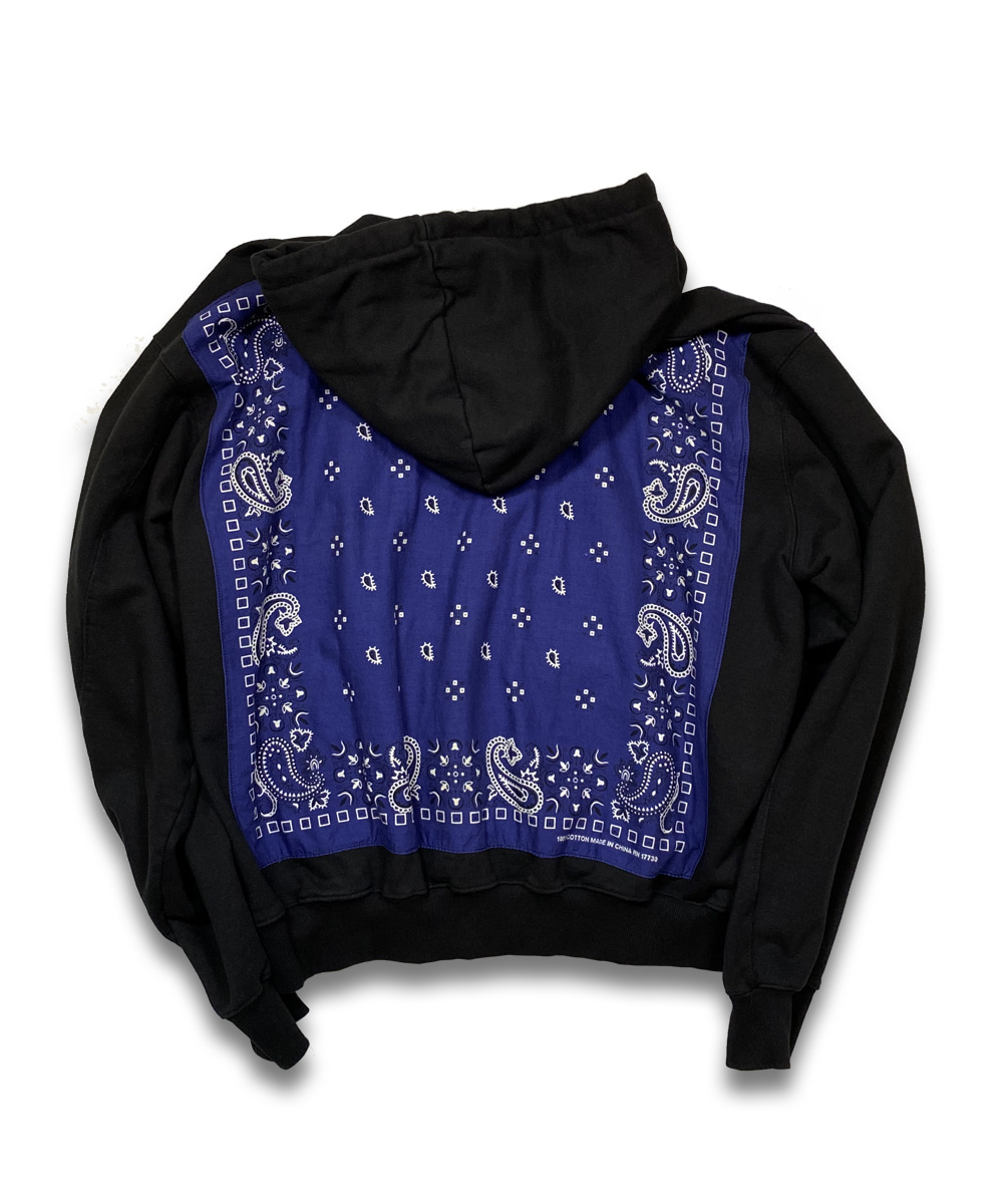 벌스데이수트 Vintage Bandana Zip-up (Black)_TYPE 22
