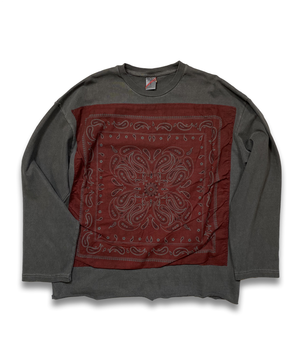 벌스데이수트 Vintage Bandana Long Sleeve (Charcoal)_TYPE 23