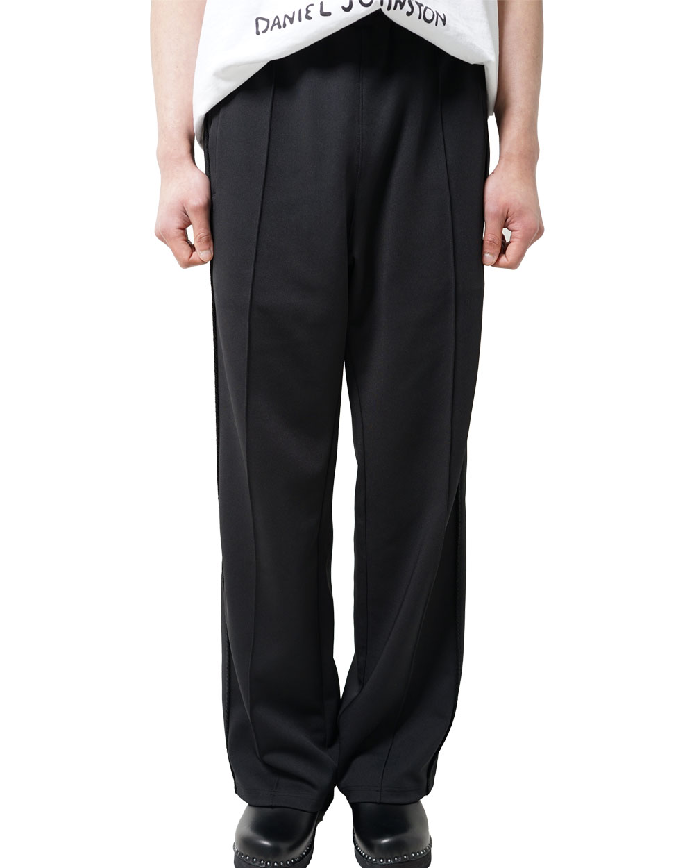 프리저브드스테이션 ROPE SIDE LINE TRACK PANTS (Black)