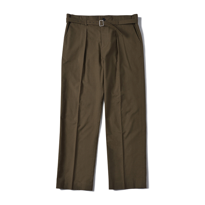 [shirter] BELTED CREASE PANTS_DARK BROWN