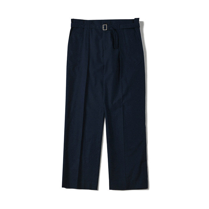 [shirter] BELTED CREASE PANTS_NAVY